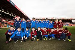 Guard of honor presentation before the match - Photo mandatory by-line: Rogan Thomson/JMP - 07966 386802 - 25/01/2015 - SPORT - FOOTBALL - Bristol, England - Ashton Gate Stadium - Bristol City v West Ham United - FA Cup Fourth Round Proper.