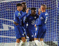 Football - 2020 / 2021 EFL Cup - Round 3 - Chelsea vs Barnsley <br /> <br /> Kai Havertz of Chelsea, celebrates his goal with Hudson - Odoi, and Ross Barkley at Stamford Bridge.<br /> <br /> COLORSPORT/ANDREW COWIE