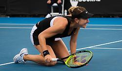January 17, 2019 - Melbourne, AUSTRALIA - Belinda Bencic of Switzerland playing doubles at the 2019 Australian Open Grand Slam tennis tournament (Credit Image: © AFP7 via ZUMA Wire)