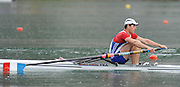 Bled, SLOVENIA,  FRA M1X, Semi finals, Julien BAHAIN competing in the semi final, men's single sculls at the  FISA World Cup, Bled. Held on Lake Bled.  Saturday  29/05/2010  [Mandatory Credit Peter Spurrier/ Intersport Images].Crew