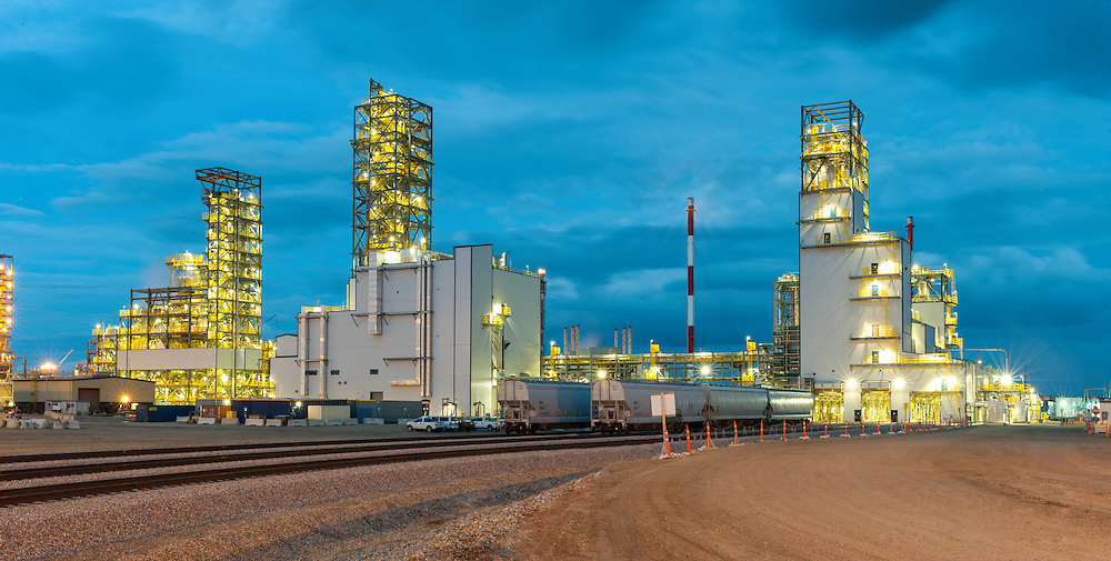 Industrial photography of the NOVA Chemicals Joffre plant in Red Deer, Alberta, Canada photographed by Brett Gilmour.