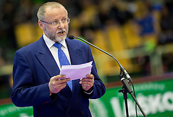 Igor Zelinka, president  of KZS at Opening ceremony at Day One of Karate 1 World Cup - Thermana Slovenia Lasko 2014 tournament, on March 15, 2014 in Arena Tri Lilije, Lasko, Slovenia.Photo by Vid Ponikvar / Sportida