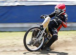 07.06.2015, Leineweberring, Bielefeld, GER, ADAC Motorrad Grasbahnrennen EM, Semifinale 2, im Bild 20 Tom Lamek/D, Speed, Kurve. Drift // during the second Semifinal of ADAC Motorcycle GRASSTRACK European Championship at the Leineweberring in Bielefeld, Germany on 2015/06/07. EXPA Pictures © 2015, PhotoCredit: EXPA/ Eibner-Pressefoto/ Stiefel<br /> <br /> *****ATTENTION - OUT of GER*****