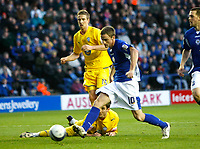 Photo: Steve Bond/Richard Lane Photography. Leicester City v Sheffield Wednesday. Coca Cola Championship. 12/12/2009. Andy King stabs home goal no2