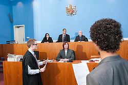 A witness in the dock in Sheffield Magistrates' court