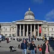 National Gallery in Trafalgar Square, London, UK 24 October 2018