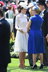 The Duchess of Cambridge (left) during day one of Royal Ascot at Ascot Racecourse, London