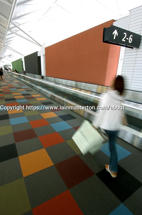 Interior of Modern Nagoya Chubu airport in Japan