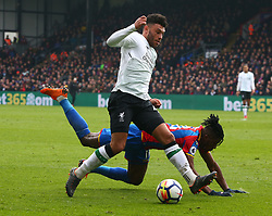March 31, 2018 - London, Greater London, United Kingdom - Liverpool's Mohamed Salah celebrates scoring his sides second goal .during the Premiership League  match between Crystal Palace and Liverpool at Wembley, London, England on 31 March 2018. (Credit Image: © Kieran Galvin/NurPhoto via ZUMA Press)