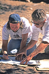 Dan Sorrell & Alan Sullivan Looking At Detailed Drawing Of Site