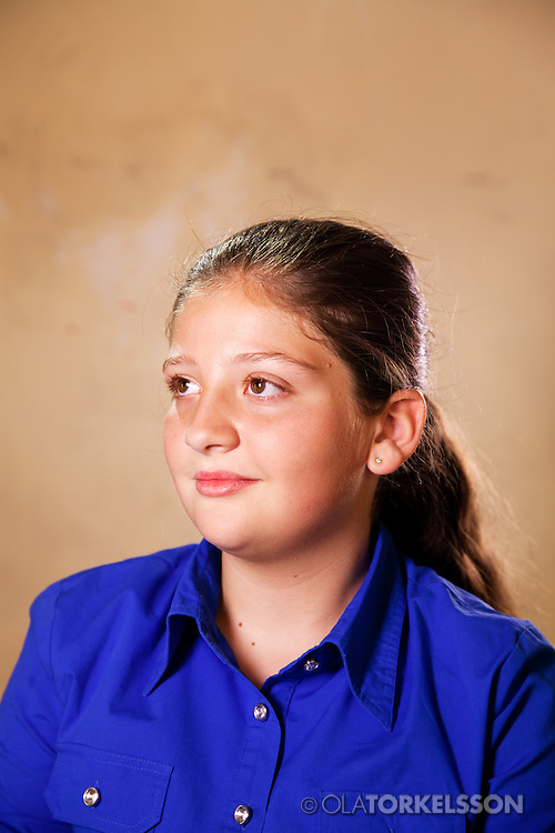 Lana (not her real name) is 11 years old and comes from the Damascus area.<br /> Photos Ola Torkelsson <br /> Copyright Ola Torkelsson © 2013