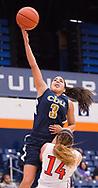 Fullerton, CA - NOVEMBER 07:  Cal State Fullerton women's basketball team competes against California Baptist University on November 7, 2014 in Fullerton, California.  Mandatory Copyright Notice: Copyright 2014 (Photo by Sarah Sachs)
