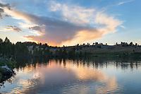 Dream Lake sunset. Bridger Wilderness, Wind River Range