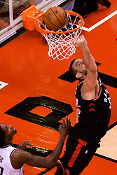 February 11, 2019 - Toronto, Ontario, Canada - Marc Gazol  #33 of the Toronto Raptors  shoots the ball during the Toronto Raptors vs Brooklyn Nets NBA regular season game at Scotiabank Arena on February 11, 2019, in Toronto, Canada (Toronto Raptors win 127-125) (Credit Image: © Anatoliy Cherkasov/NurPhoto via ZUMA Press)