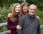 Dellinger Family photo of granddaughter with grandparents