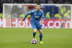 Juventus' Cristiano Ronaldo during the UEFA Champions League round of 16 first leg Olympique Lyonnais (OL) v Juventus Turin football match at the Parc Olympique Lyonnais stadium in Decines-Charpieu near Lyon, central-eastern France, on February 26, 2020. OL won 1-0. Photo by Loic Baratoux/ABACAPRESS.COM