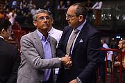 DESCRIZIONE : Milano Lega A 2014-15 <br /> EA7 Milano Granarolo Bologna<br /> GIOCATORE : <br /> CATEGORIA : Presidente lega<br /> SQUADRA : <br /> EVENTO : PlayOff Lega A 2014-2015<br /> GARA : EA7 Milano Granarolo Bologna<br /> DATA : 18/05/2015<br /> SPORT : Pallacanestro<br /> AUTORE : Agenzia Ciamillo-Castoria/M.Ozbot<br /> Galleria : Lega Basket A 2014-2015 <br /> Fotonotizia: Milano PlayOff Lega A 2014-15 EA7 Milano Granarolo Bologna