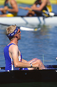 Sydney, AUSTRALIA GBR M8+ gold medal winning Cox, Rowley DOUGLAS with wind deflector during the 2000 Olympic Regatta Course,  West Lakes,  Penrith.  NSW. [Mandatory Credit, Peter Spurrier/Intersport-images] Sydney International Regatta Centre (SIRC) 2000 Olympic Rowing Regatta00085138.tif