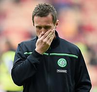 12/09/15 LADBROKES PREMIERSHIP<br /> ABERDEEN v CELTIC <br /> PITTODRIE - ABERDEEN<br /> Celtic manager Ronny Deila