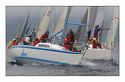 Bell Lawrie Series Tarbert Loch Fyne - Yachting.The first day's inshore races...GBR3742 Hops at the windward mark..