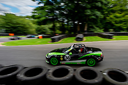 David Henderson pictured while competing in the BRSCC Mazda MX-5 SuperCup Championship. Picture taken at Cadwell Park on August 1 & 2, 2020 by BRSCC photographer Jonathan Elsey