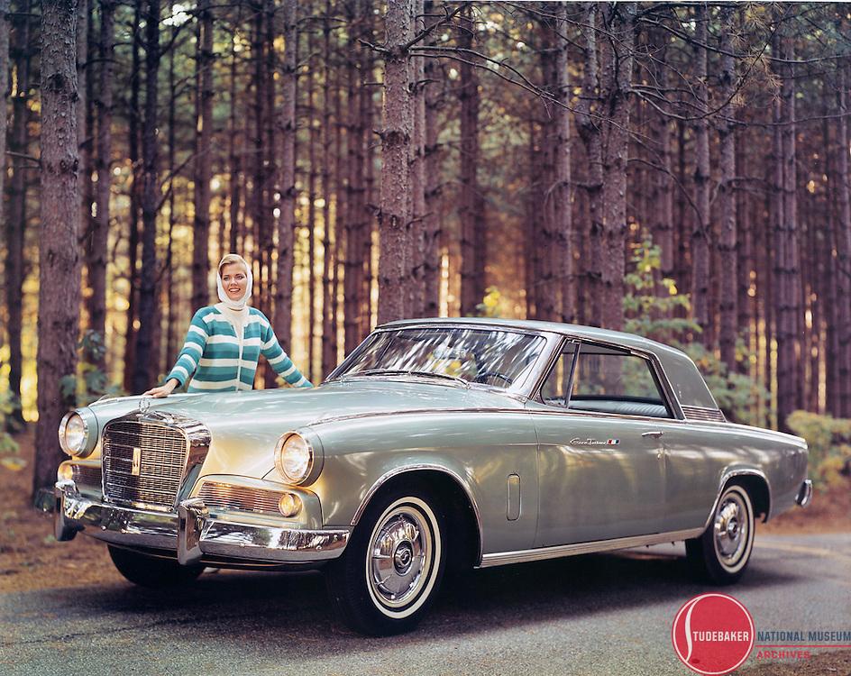 1964 Studebaker Gran Turismo Hawk publicity image.