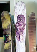 Clients of Kevin Wu can create their own graphics for their top sheet, makeing each pair of Maiden Skis unique to their owner.