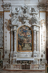 Tintoretti's The Assumption in the Santa Maria Assunta detta I Gesuiti church in Venice. From a series of travel photos in Italy. Photo date: Tuesday, February 12, 2019. Photo credit should read: Richard Gray/EMPICS