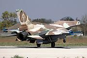 Israeli Air Force (IAF) F-16C (Barak) Fighter jet at take off