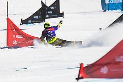 Tim Mastnak (SLO) during parallel slalom FIS Snowboard Alpine World Championships 2021 on March 2nd 2021 on Rogla, Slovenia. Photo by Grega Valancic / Sportida