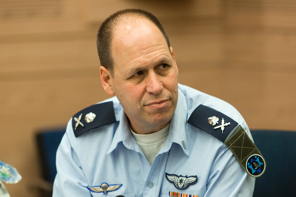 Major-General Hagai Topolansky, head of the IDF Manpower Directorate, at the Knesset, Israel's parliament in Jerusalem, on February 14, 2016.
