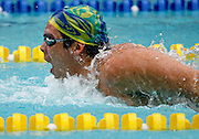 Belo Horizonte_MG, Brasil...Copa do Mundo de Natacao 2007. Na foto o nadador Kaio Marcio, do Brasil, vencedor da prova 200m Borboleta...Swimming World Cup 2007. In this photo the swimmer Kaio Marcio, of Brazil, He is the champion in the 200m butterfly, in Belo Horizonte...Foto: LEO DRUMOND / NITRO