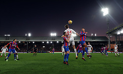25 November 2017 - Premier League Football - Crystal Palace v Stoke City - A general view (GV) of Selhurst Park as Peter Crouch of Stoke and Ruben Loftus-Cheek of Crystal Palace go up for a header - Photo: Charlotte Wilson / Offside