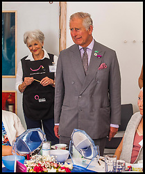July 19, 2017 - London, London, United Kingdom - Image ©Licensed to i-Images Picture Agency. 19/07/2017. London, United Kingdom. Prince Charles visits  Truro. ..Prince Charles, The Duke of Cornwall, Patron, Macmillan Cancer Support, visits The Cove Macmillan Support Centre in Truro, Cornwall, to meet staff, patients and cancer specialists and hear more about the assistance The Cove offers...Picture by  i-Images / Pool (Credit Image: © i-Images via ZUMA Press)