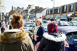 Pictured: <br /> <br /> Scottish Greens Health and social care spokeswoman Alison Johnstone took the opportunity to meet some of the electorate before  helping out at the lunch club at the Hollies Day Centre. The facility caters for the social and practical needs of the over-60s and runs a popular cafe and charity shop. <br /> <br /> Ger Harley | EEm 25 April 2016