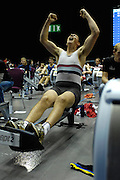 Birmingham, GREAT BRITAIN, Matthew TATLOCK, throw's his arms in the air, after winning the J16 category at the British Indoor Rowing Championships, National Indoor Arena, Birmingham, ENGLAND. 12/11/2006, [Photo, Peter Spurrier/Intersport-images].....
