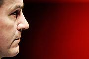 20140819/ Javier Calvelo -  adhocFOTOS/ URUGUAY/ MONTEVIDEO/ Tras la negacion del candidato del FA a debatir los otros tres candidatos a la presidencia de Uruguay de partidos con representacion parlamentaria estan participando en encuentros y debates juntos. En la Asociación de Promotores Privados de la Construcción del Uruguay los candidatos debatieron sobre su Plan de Gobierno y la Vivienda. Participo: Pedro Bordaberry (que el 19 de abril de 2017 anuncio su retiro de la politica)<br /> En la foto:  Pedro Bordaberry. Foto: Javier Calvelo / adhocFOTOS