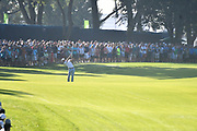 ST. LOUIS, MO - AUGUST 09: Justin Thomas hits his second shot on the #10 fairway during the first round of the PGA Championship on August 09, 2018, at Bellerive Country Club, St. Louis, MO.  (Photo by Keith Gillett/Icon Sportswire)