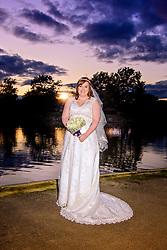 The Bride at Sunset by Swanlake, Woburn Safari Park