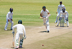 Zimbabwe captain and batsman Graeme Cremer in action during the third day of the 100th test match for Zimbabwe played in a series of two matches with Sri Lanka at Harare Sports Club 31 October 2016.