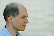Popular British philosopher Alain de Botton, pictured at the Edinburgh International Book Festival where he discussed modern Western society's chances of finding happiness. The Book Festival is the world's biggest literary festival with appearances by over 500 authors from across the world....