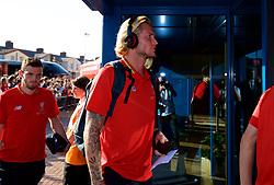 BLACKBURN, ENGLAND - Thursday, July 19, 2018: Liverpool's goalkeeper Loris Karius arrives before a preseason friendly match between Blackburn Rovers FC and Liverpool FC at Ewood Park. (Pic by Paul Greenwood/Propaganda)