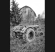 Deutz tractor in Skagit Valley barnyard.