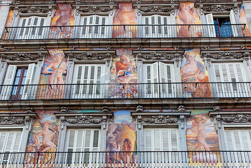 Detalle de la Casa de la Panaderia. Plaza Mayor. Madrid. España. Europa © Country Sessions / PILAR REVILLA ©Country Sessions / PILAR REVILLA