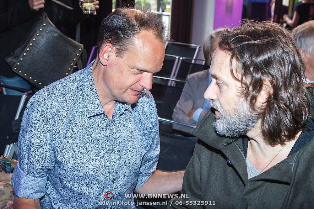 NLD/Amsterdam/20150518 - Uitreiking Storytel Luisterboek Award , Vincent Bijlo en Hugo Borst