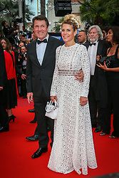 Christian Estrosi, Laura Tenoudji attends the screening of A Hidden Life (Une Vie Cachee) during the 72nd annual Cannes Film Festival on May 19, 2019 in Cannes, France. Photo by Shootpix/ABACAPRESS.COM