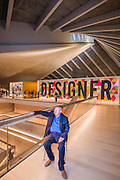 Sir Terrance Conran, founder - The Design Museum has moved to Kensington High Street from its former home as an established London landmark on the banks of the river Thames.  The new museum will be devoted to contemporary design and architecture, an international showcase for the many design skills at which Britain excels and a creative centre, promoting innovation and nurturing the next generation of design talent. His Royal Highness toured the museum to view the transformation of a modernist building from the 1960s, which was the former Commonwealth Institute.  17  November 2016, London.