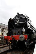 UK, 7 June 2009: The Tornado, a Peppercorn class A1 Pacific steam locomotive, stands at Blue Anchor station on the West Somerset Railway. Photo by Peter Horrell / http://peterhorrell.com