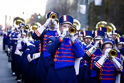 November 22, 2018 - Philadelphia, Pennsylvania, U.S. - Marching bands from across the U.S. participate in the Thanksgiving Day Parade in Philadelphia. (Credit Image: © Michael Candelori/ZUMA Wire)