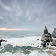 View of stacks at Ursa Beach, Portugal